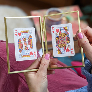 Personalised Hearts playing cards letterbox gift set