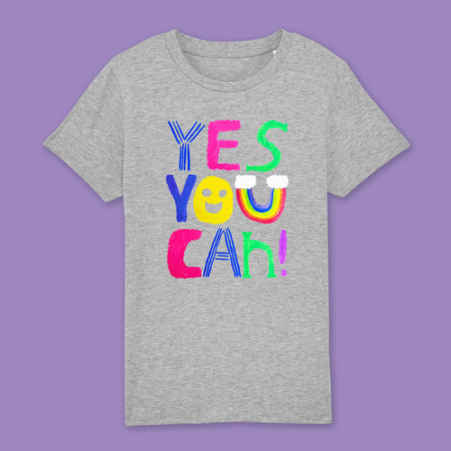 Yes you can kids t-shirt