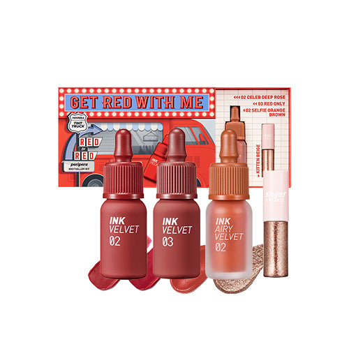 [PERIPERA] Ink Velvet Tint Get Red With Me Set (Limited Edition) - CLUB CLIO