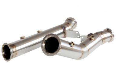 76mm Downpipes for MERCEDES C400-c43-C450 AMG 4 MATIC w205 (Catless)