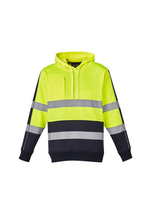 Copy of UNISEX HI VIS STRETCH TAPED HOODIE (YELLOW)