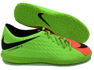 NIKE HYPERVENOMX PHELON III IC (GREEN/ORANGE)