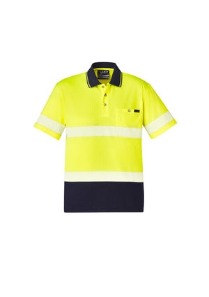 Copy of UNISEX HI VIS SEGMENTED S/S POLO - HOOP TAPED (YELLOW)
