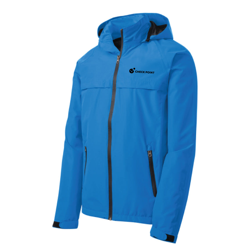 J333 Port Authority BLUE Torrent Waterproof Jacket w/Check Point emb left chest
