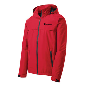 Copy of J333 Port Authority RED Torrent Waterproof Jacket w/Check Point emb left chest