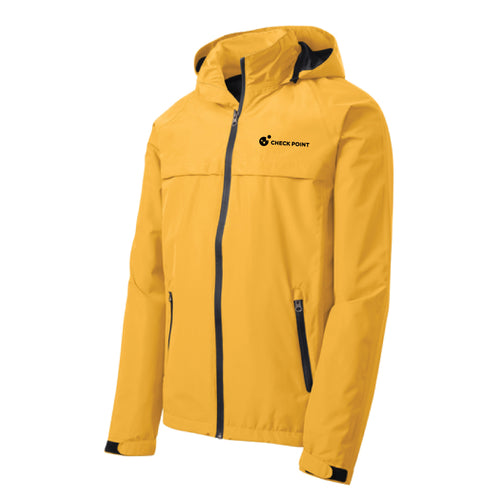 J333 Port Authority YELLOW Torrent Waterproof Jacket w/Check Point emb left chest