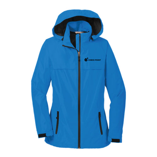 L333 LADIES Port Authority BLUE Torrent Waterproof Jacket w/Check Point emb left chest