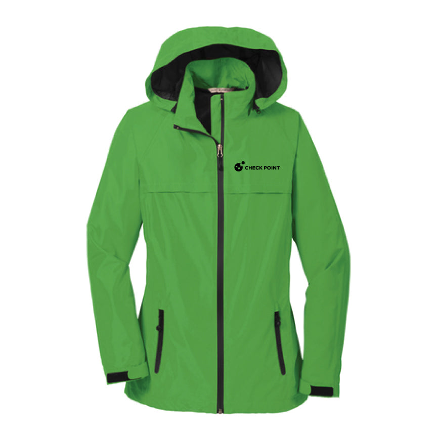 L333 LADIES Port Authority GREEN Torrent Waterproof Jacket w/Check Point emb left chest