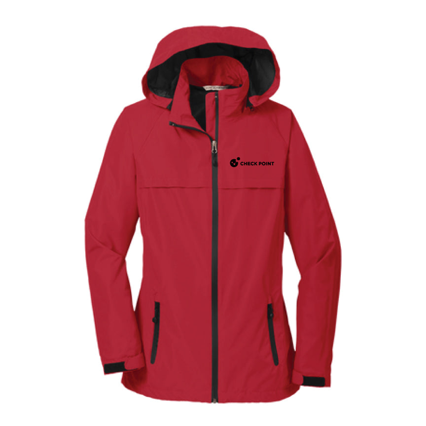 L333 LADIES Port Authority RED Torrent Waterproof Jacket w/Check Point emb left chest