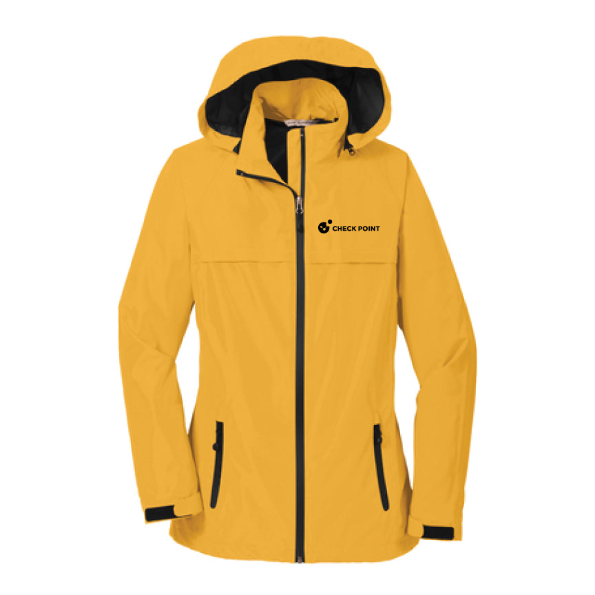 L333 LADIES Port Authority YELLOW Torrent Waterproof Jacket w/Check Point emb left chest