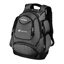 Load image into Gallery viewer, 711105 Ogio Metro Backpack with Check Point embroidery on lower pocket
