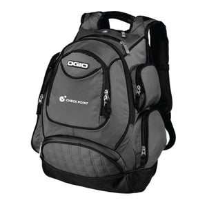 711105 Ogio Metro Backpack with Check Point embroidery on lower pocket