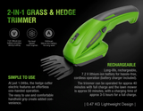 Melleno™ Cordless Hedge & Grass Trimmer (50% Off Today Only)