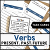 Choose a Verb Tense Task Cards: Present Simple & Continuous, Past Simple, Future - Hot Chocolate Education