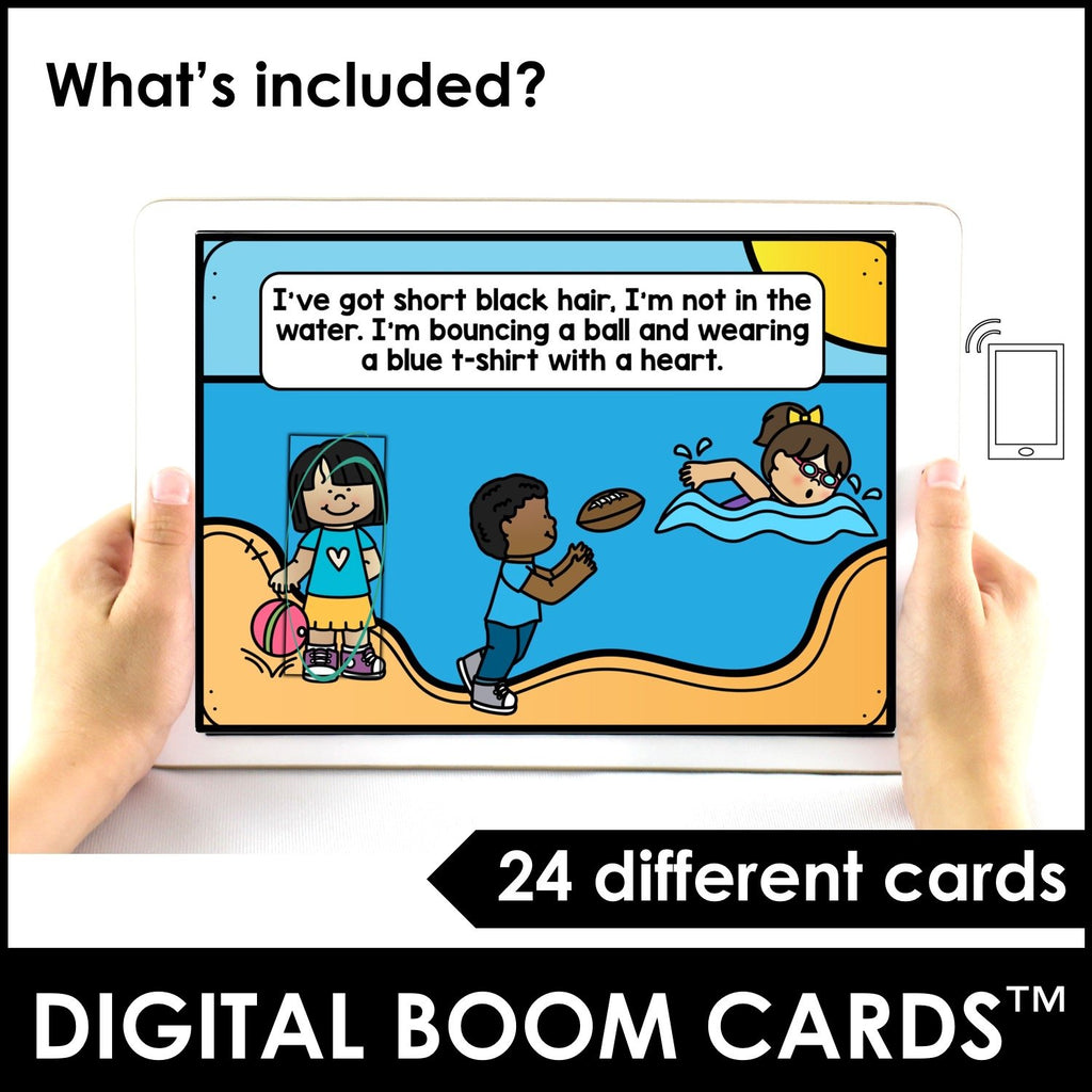 Guess Who? Describing People - Interactive Digital Boom Cards™ - Hot Chocolate Education