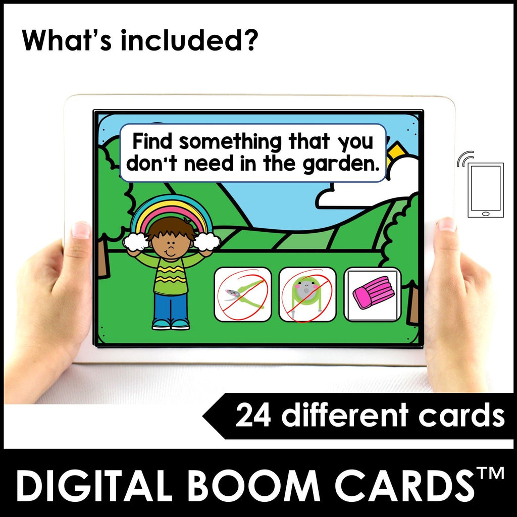 Spring Vocabulary Boom Cards™ Digital Interactive Task Cards - Hot Chocolate Education