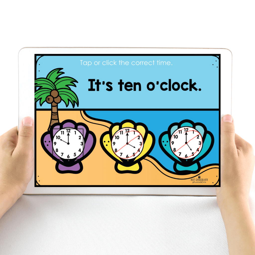 Telling the Time - Interactive Digital Boom Cards™ - Hot Chocolate Education