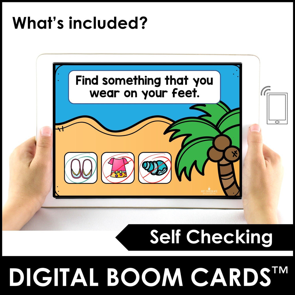 Summer Vocabulary Boom Cards™ Digital Interactive Task Cards - Hot Chocolate Education