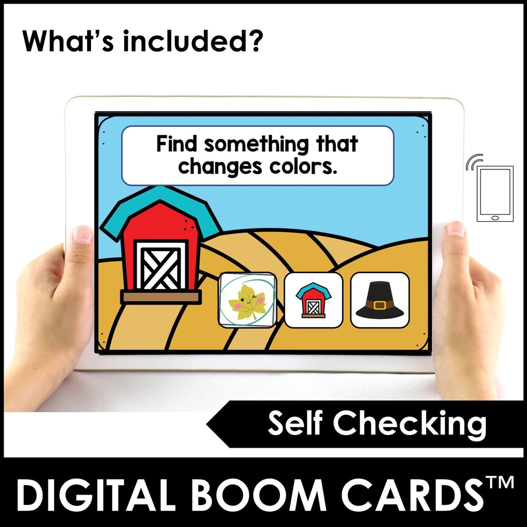 Autumn Vocabulary Boom Cards™ Digital Interactive Task Cards - Hot Chocolate Education