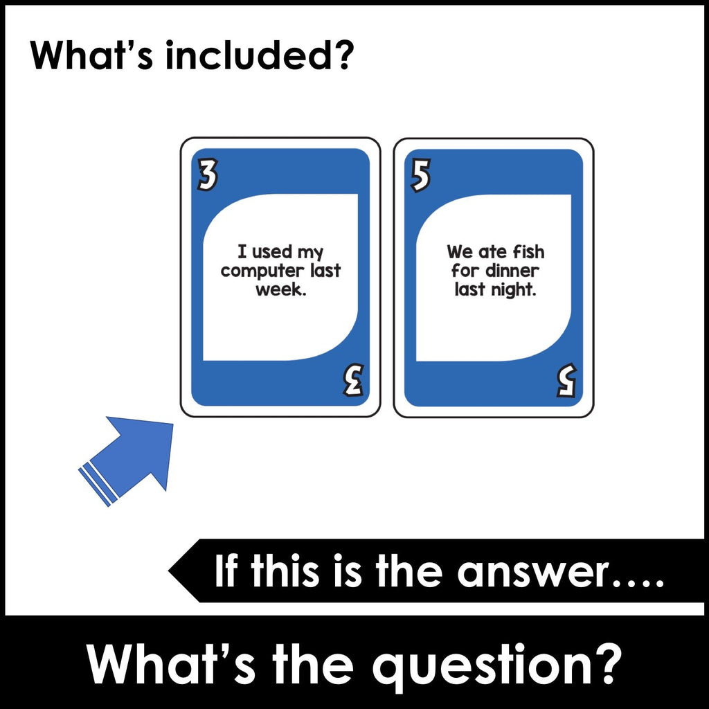 What's the question? Word Order in Questions Card Game - Hot Chocolate Education