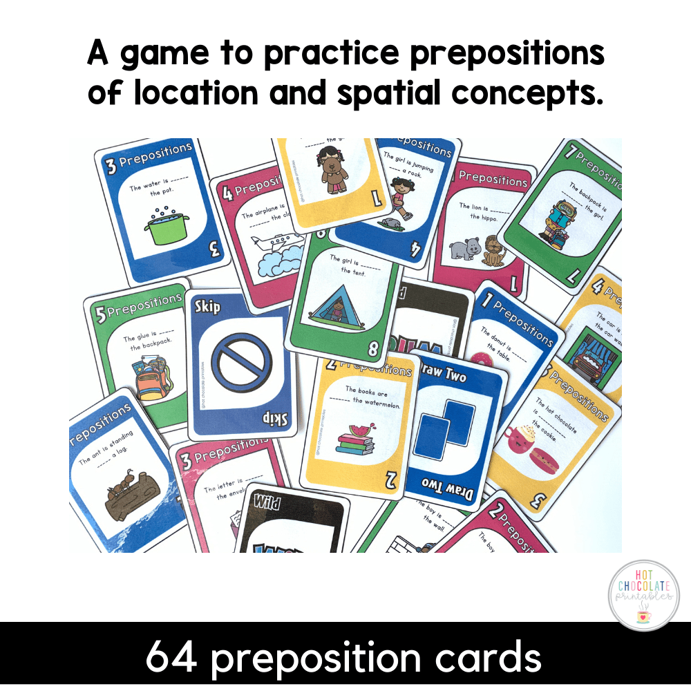 Prepositions of Place - Location Card Game - Hot Chocolate Education