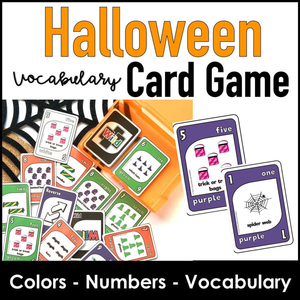Halloween Card  Game for Young Learners - Hot Chocolate Education