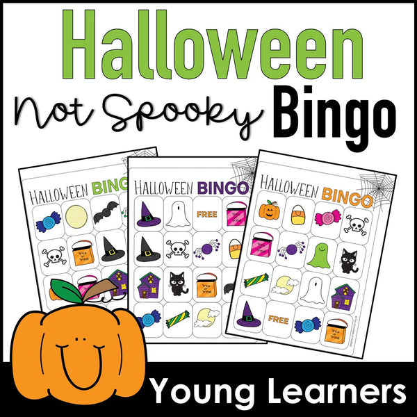 Halloween Vocabulary Bingo Game for Young Learners - Hot Chocolate Education