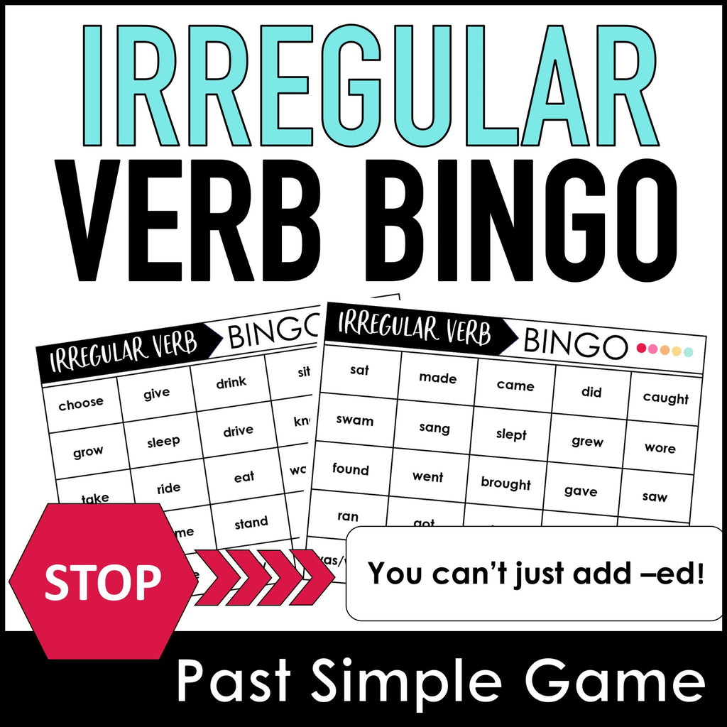Irregular Verb BINGO Game: Past Simple - Hot Chocolate Education