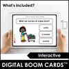 What & Where Question Boom Cards™ Digital + Printable Task Cards - Hot Chocolate Education