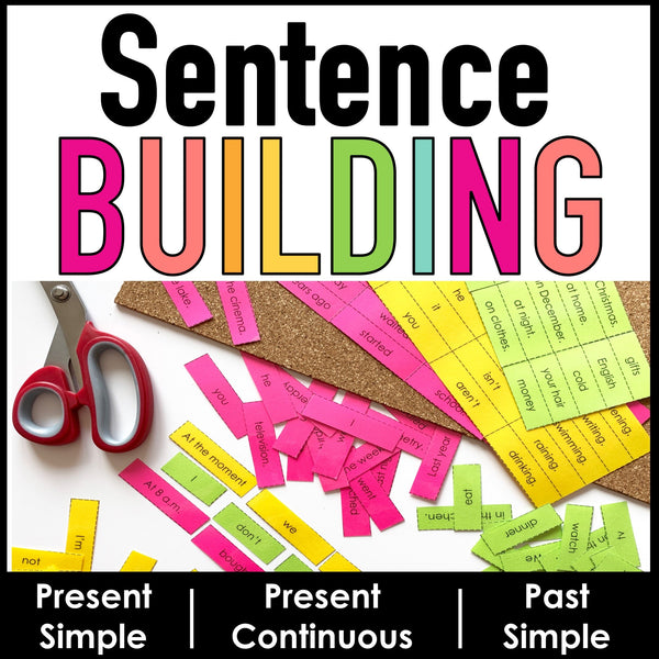 Sentence Building: Mixed Up Sentences Activity | Present & Past Tense - Hot Chocolate Education