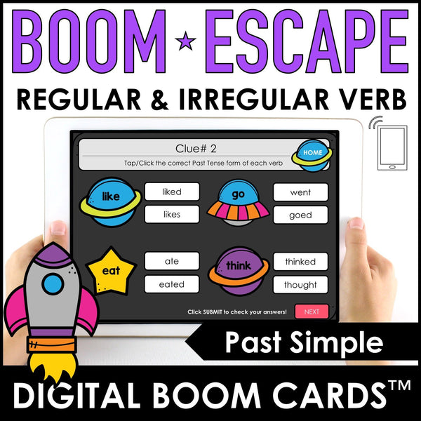 Past Tense Regular & Irregular Verb Activity : BOOM CARDS™ - Hot Chocolate Education