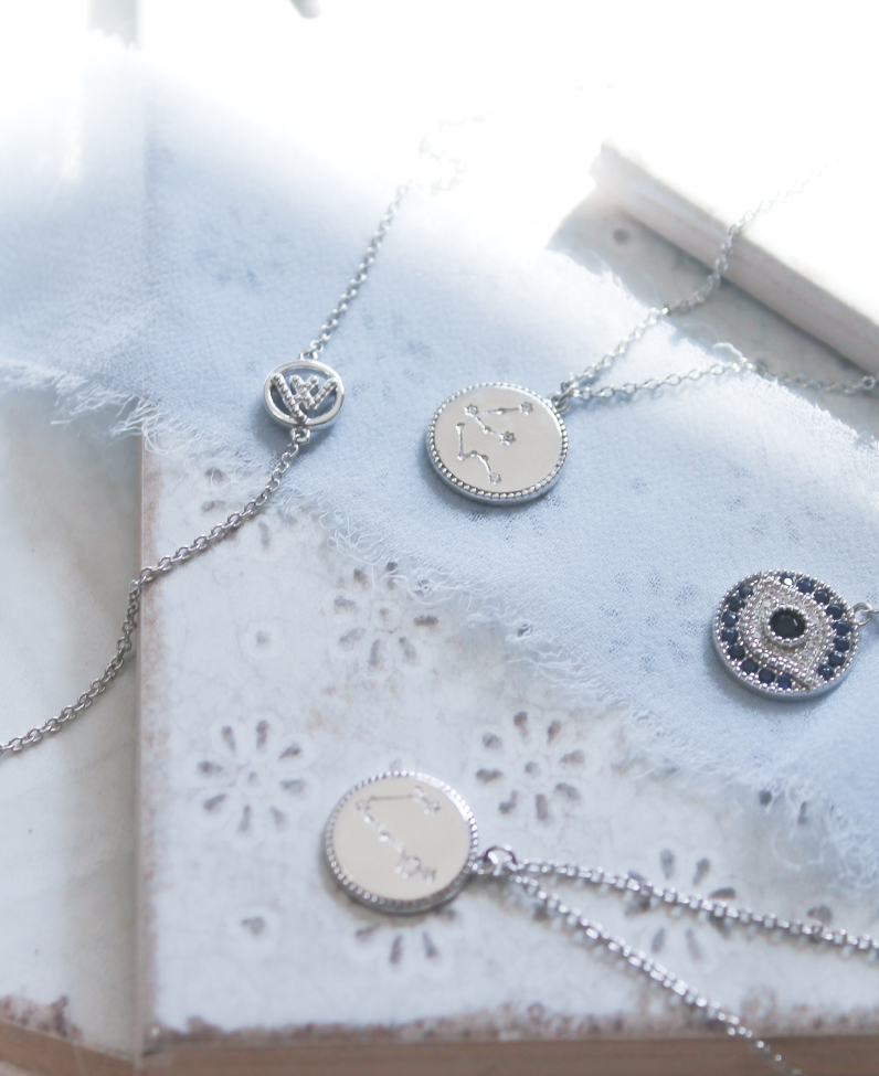 Celestial Pendant Necklace - Virgo