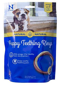 N-Bone 6-Pack Puppy Teething Ring, Chicken Flavor