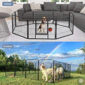 Playpen/Exercise Pen Dog Fence - Portable Folding Indoor Outdoor Crate for Dogs