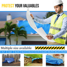 Load image into Gallery viewer, Multi-purpose Waterproof Poly Tarp ( For under you X-Pen to protect your floor)