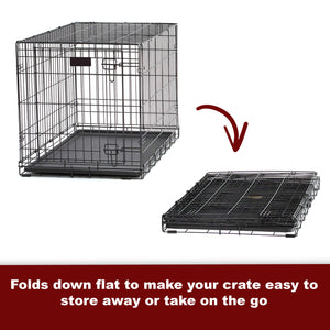 Single Door & Double Door Folding Metal Dog Crates