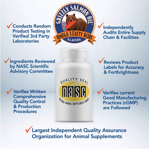 Grizzly Wild Alaskan Salmon Oil for Skin and Coat Health