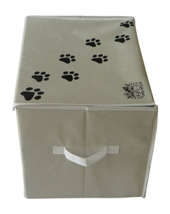 "Feline Ruff 16"" X 12"" Pet Toy Storage Basket with Lid"