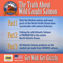 Load image into Gallery viewer, Grizzly Wild Alaskan Salmon Oil for Skin and Coat Health