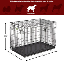 Load image into Gallery viewer, Single Door & Double Door Folding Metal Dog Crates