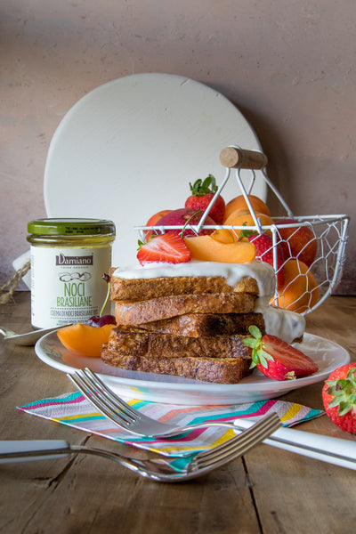 French toast fit con yogurt alle noci brasiliane