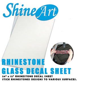 "24"" x 12"" Sheet - Rhinestone Glass Decal Material"