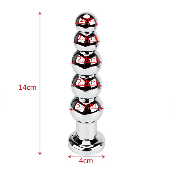 Plug Anal Diamant 5 Boules Rouge
