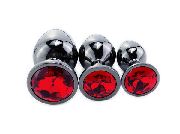 Pack Plug Anal Diamant Rouge