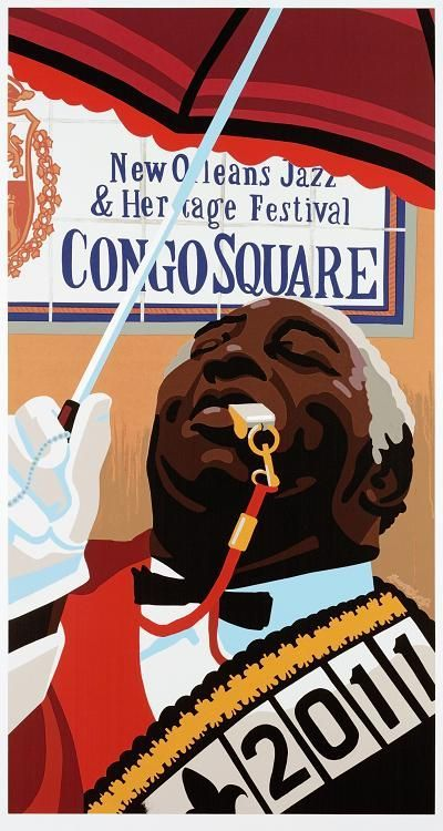 2011 New Orleans Congo Square Poster - Signed & Numbered