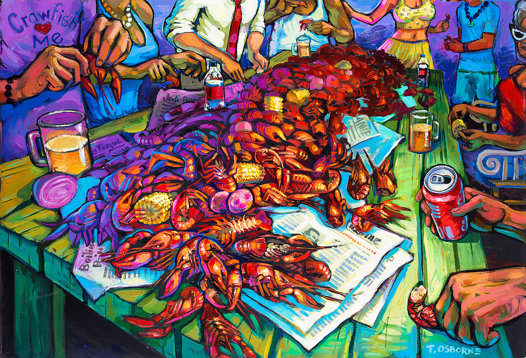 """Crawfish Berl"" New Orleans Art by Terrance Osborne"
