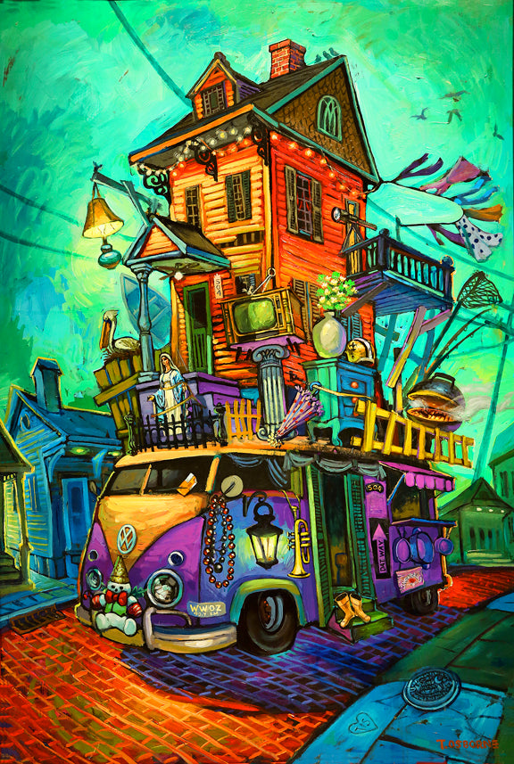 """Evacuation Plan"" New Orleans Art by Terrance Osborne"