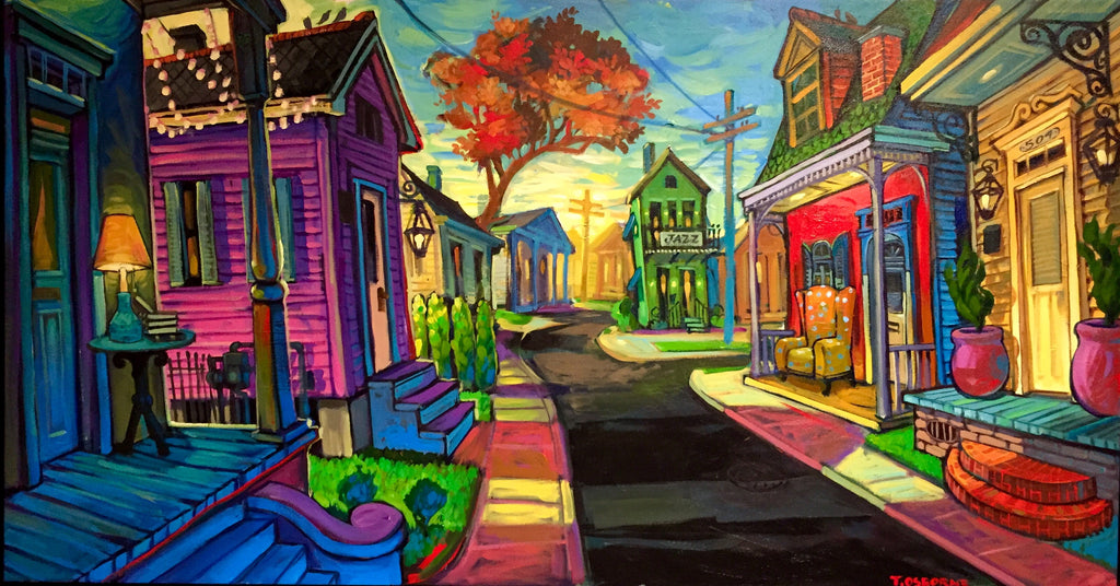 """Easy Nola"" New Orleans Art by Terrance Osborne - Giclee"