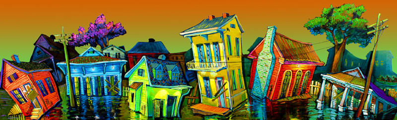 """Post Katrina Blues"" New Orleans Art by Terrance Osborne"