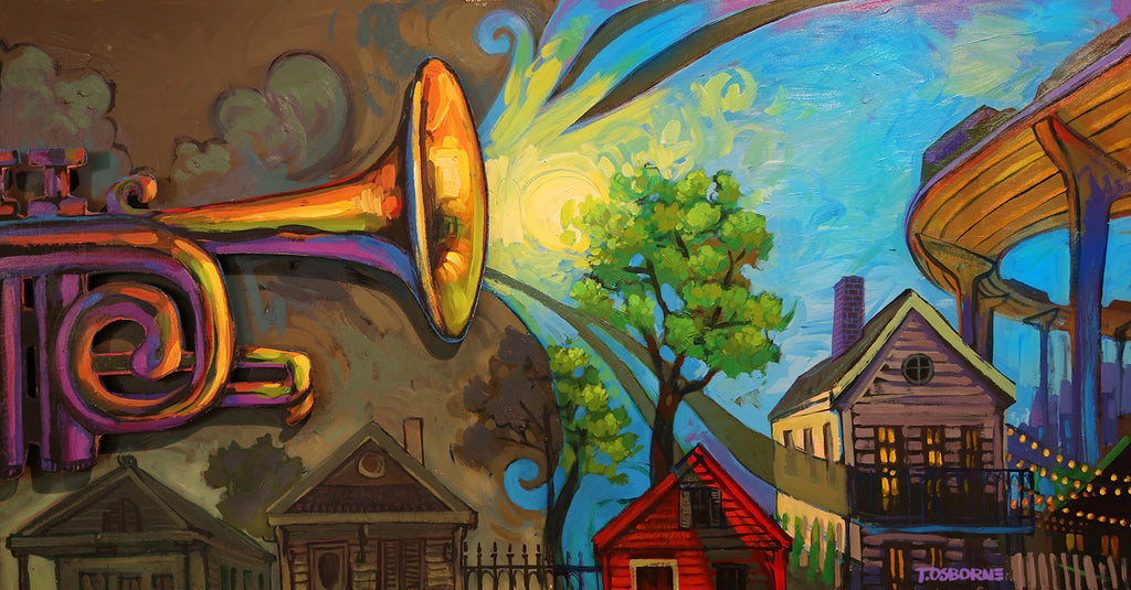 """Speak Nola"" New Orleans Art by Terrance Osborne"
